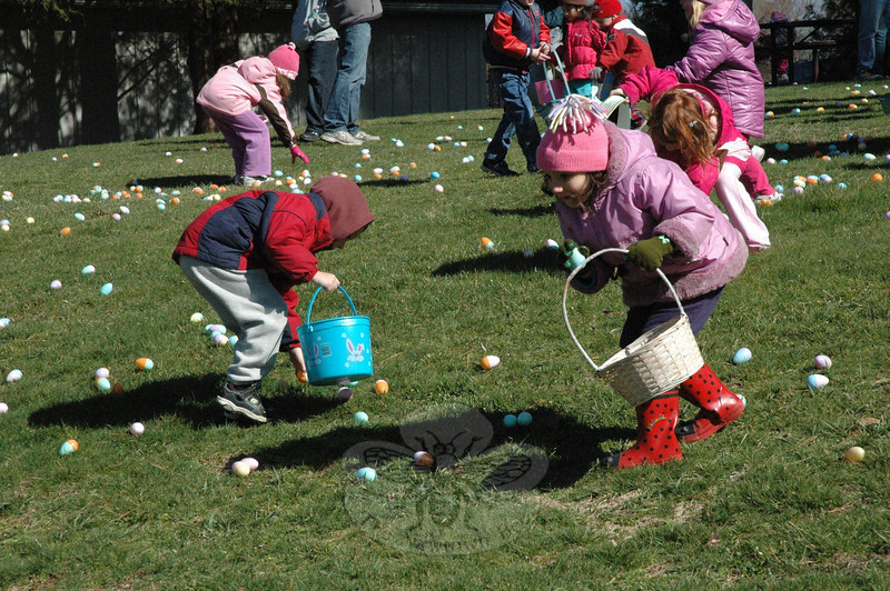 Two egg hunts were conducted by Newtown Parks & Rec on March 27, one for younger children and the second for an older age group.  (Gorosko photo)