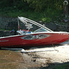 On Wednesday morning, state DEEP investigators inspected the MasterCraft powerboat involved in the accident the night before. —Bee Photo, John Voket