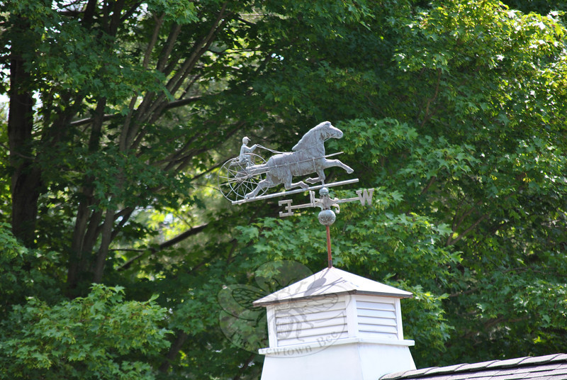 The sulky and driver weathervane on a Borough district house is a classic style, of which there are many variations. Bee Photo, Nancy K. Crevier