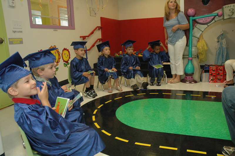 """The Learning Experience, a child development center at Plaza South on South Main Street, held graduation ceremonies for its """"preschool 2"""" class students Saturday, June 25. Nine students graduated from the class, of whom seven attended the event. Graduating from the class were Emmanuel Avetisian, Hayden Bobowick, Isabelle Caron, Nicholas D'Amico, Kayden Johnson, Sofia Martinez, Erick McCubbin, Guisseppi Meriano, and Andrew Peterson.  (Gorosko photo)"""