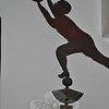 The basketball player is one of several weathervanes housed in the Newtown Bee Church Hill Road office, and is a rare subject matter, says publisher and collector R. Scudder Smith. Bee Photo, Nancy K. Crevier