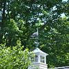Eagles are a popular subject for weathervane crafters, but birds of all kinds, including this turkey that points the way from a Taunton Hill area home, have been used in weathervane designs over the centuries.Bee Photo, Nancy K. Crevier
