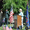 "Listing the many freedoms enjoyed by Americans today, First Selectman Pat Llodra noted, ""They traded their lives so we could have all of this"" during her comments as part of the Memorial Day Ceremony at VFW Post 308.  (Crevier photo)"