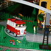 "The Danbury Railway Museum exhibition ""The Connecticut and Vermont LEGO® Railway,"" an operating model train layout made entirely of Legos, has been extended to June 27. Among the whimsical items within the massive project is this Volkswagen van. The gray line seen slicing through the upper corner of this photo is part of an elevated track, one of at least a half dozen tracks that criss-cross within the display.  (Hicks photo)"