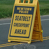 Newtown police and police from several nearby towns combined their efforts on May 28 on Berkshire Road (Route 34) near its intersection with Lone Oak Meadows Road and Johnny Appleseed Drive to enforce seatbelt laws as part of the national Click-It or Ticket seatbelt enforcement campaign. The fine for failure to wear a seatbelt recently increased from $37 to $92. The enforcement project continues through June 6.  (Gorosko photo)