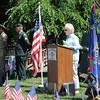 First Selectman Pat Llodra was among the special guests invited to speak during the Memorial Day Ceremony at VFW Post 308.  (Crevier photo)