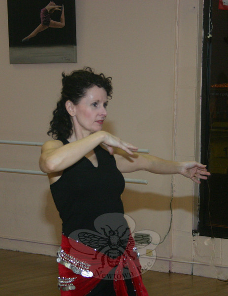 """All dances have an ethnic heritage. That is what we honor,"" says Charlene Weber, who dances under the name Aubrey. Each member of Egyptian Sunrise has selected a stage name for her onstage persona. ""We do not associate with the warped presentation of the dance once it came to the US and was exploited in 1893."" (Hicks photo)"