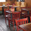 Burgerittoville's meals can be enjoyed at any of the restaurant's rustic wooden tables while the natural light streams in through the tall, antique windows, taken outside and relished at picnic tables, or carried away.  (Crevier photo)