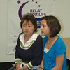 Elizabeth Zarifis and her daughter Michelle share a quiet moment before the festivities May 6 as Newtown Relay For Life team captains and volunteers gathered for their final planning ahead of the early June cancer awareness and fundraising event.  (Voket photo)
