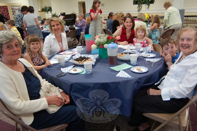 Mothers, grandmothers, and significant female role models were treated to iced tea and cookies at Trinity Day School on Friday, May 7, in honor of Mother's Day.  (Hallabeck photo)