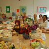 At Sandy Hook Elementary School, staff ate a lunch on May 6 that had been put together by the school's PTA in honor of National Teacher Appreciation Week, May 3-7. All schools in the district recognized Teacher Appreciation Week with different PTA programs, events, and gifts. At Hawley lunch was provided for teachers, and at Newtown High School banners decorated the school.  (Hallabeck photo)