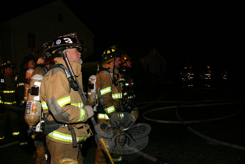 Firefighters from six companies responded to a structure fire on Sunday, May 9, on Chestnut Hill Road.  (Hicks photo)