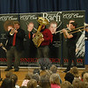 Students at Middle Gate Elementary school were the first students in the district to hear the Synergy Brass Quintet play on Monday, May 10. The group will be performing at each school in the district over a course of ten days, and parents and residents will have a chance to also hear the acclaimed jazz ensemble play this Saturday, May 15, at Edmond Town Hall at 7:30 pm.  (Hallabeck photo)