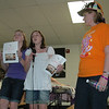 Courtney Dayton, left, and Mary Kate Sandler talk about their upcoming fundraiser, while Mary Kate's mom, 2010 Relay Chair Addie Sandler, looks on.  (Voket photo)