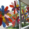During National Teacher Appreciation Week, recognized this year the week of May 3-7, flower petals at Middle Gate were written on by each student at the school with a note about their favorite teacher. The petals were then put together by PTA volunteers, and the flowers decorated windows in the school.  (Hallabeck photo)