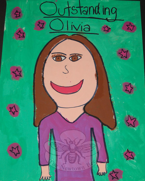 """Outstanding Olivia"" by Sandy Hook student Olivia Mubarek.  (Hallabeck photo)"