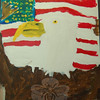 A patriotic painting by Isabella Coscia.  (Hallabeck photo)