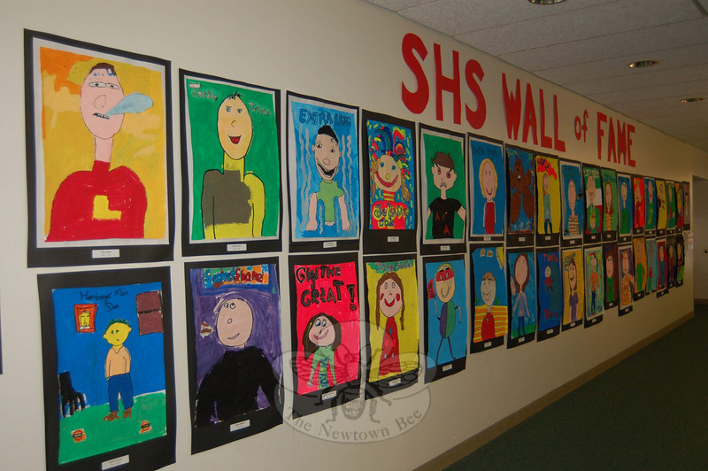 Sandy Hook School presented its annual Art Night, with art of various styles and studies by all students, on Tuesday, May 5.  (Hallabeck photo)