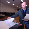 Dan Holmes casts his vote Tuesday, May 18, during the town's second budget referendum, which failed again this week.  (Bobowick photo)