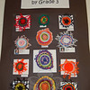 A collection of circle weavings by third graders.  (Hallabeck photo)