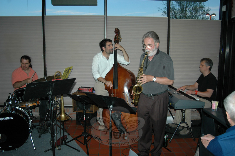 The Roger Ball Quintet, featuring Newtown resident and Average White Band co-founder Roger Ball, also includes Nick Bariluk on piano, Thierry Arpino on drums, and Henry Lugo on acoustic bass. Trombone player John Fumasoli is not pictured.  (Voket photo)