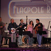 The Radio Café Orchestra received hearty applause from a capacity crowd at the season final performance of The Flagpole Radio Café at Edmond Town Hall on May 22. The stringed ensemble performed a variety of spirited folk tunes. From left is Michael Sassano, Dick Neal, Rick Brodsky, Francine Wheeler, Jim Allyn, and Chris Teskey.  (Gorosko photo)