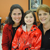 Kennedy Snyder of Wilton sits with her mother, Kristy Snyder (left), and Michelle Babyak, director of the Kennedy Rosary Project at St Rose in Newtown. The Rosary Project is named for Kennedy, who was diagnosed seven years ago with a spinal tumor, and who has found solace during long MRI sessions by saying the rosary on a special, metal-free rosary chaplet.  (Crevier photo)