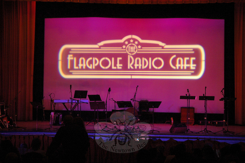 Flagpole Radio Cafe, a performance series sponsored by Newtown Cultural Arts Commission, celebrated the finale of its second season on Saturday, May 22, at Edmond Town Hall.  (Gorosko photo)