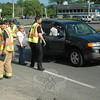 Police report a two-vehicle accident on westbound Church Hill Road, near its intersection with Edmond Road, at about 4:21 pm May 24. Motorist Laura Solano, 51, of 5 Brandywine Lane, who was driving a 2002 Saturn Vue westward on Church Hill Road, stopped for traffic conditions, after which the Saturn was struck from behind by westbound motorist David Hyde, 18, of 3 Owl Ridge Lane, who was driving a 1999 Toyota Sienna minivan. Newtown Volunteer Ambulance Corps staffers responded to the scene, as did Newtown Hook & Ladder firefighters. Police said they issued Hyde an infraction for following too closely.  (Bee photo)