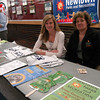 Parks and Recreation Director Amy Mangold, left, and Assistant Director RoseAnn Reggiano spoke to students about upcoming local events in which students can become involved.  (Hallabeck photo)