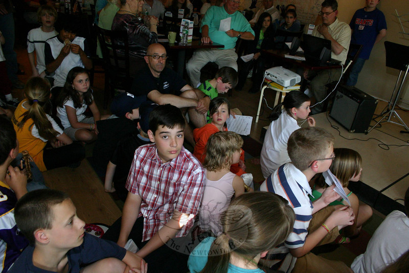 The house was packed when students from Trinity Episcopal Church's Sunday School presented a fundraising variety show at The Blue Z on Friday, April 30.  (Hicks photo)