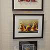 "From top to bottom is the award-winning ""Cherries Jubiliee"" by Vikki Bouffard, Laura Wilk's watercolor ""Not Talking,"" and Anthony Mauro's ""Lynne,"" another watercolor.  (Crevier photo)"