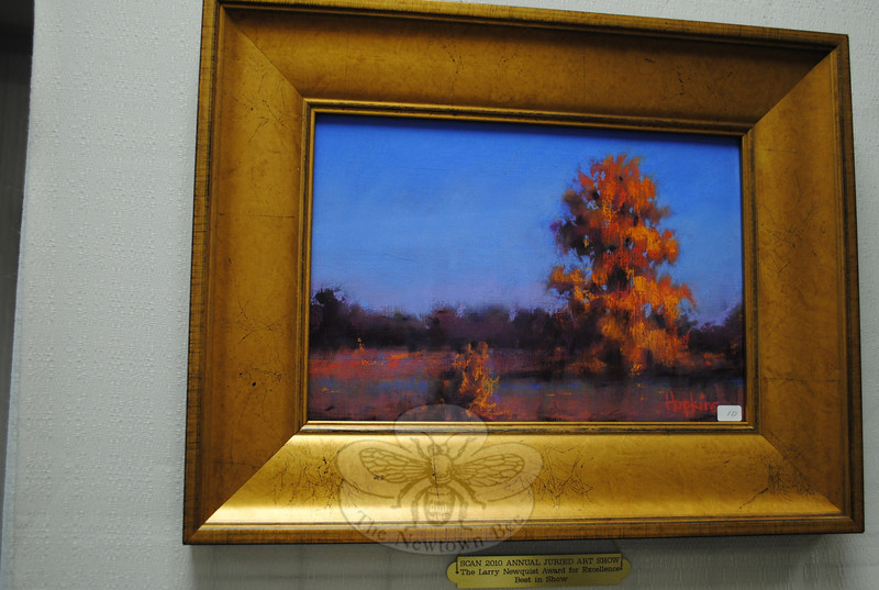 "The Larry Newquist Award for Excellent Best in Show Award was presented to this pastel, ""Little and Big Trees"" by Julie Hopkins. The award, along with 12 others, was announced during the opening reception for SCAN's 40th Annual Spring Juried Art Show on May 2.  (Crevier photo)"