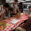 Newtown High School Students Against Destructive Decisions group had a table that passed out a healthy habits survey for students to fill out during the school's Health Fair on Wednesday, April 28.  (Hallabeck photo)