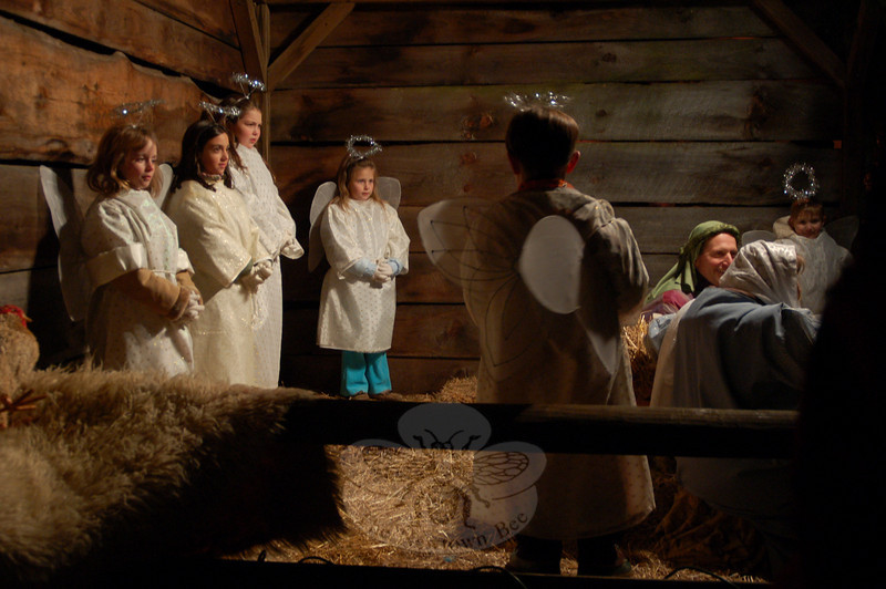 Members of St Rose of Lima celebrated the Advent season with their annual Living Nativity presentation on Saturday, December 12.  (Hallabeck photo)