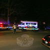 A small school bus, which was carrying four passengers, and a coupe collided at about 7:06 pm on December 16 on Botsford Hill Road, on a sharp curve near the Housatonic Railroad's rail bridge, police said. Motorist Luke Armshaw, 29, of Milford was driving a 2005 Subaru coupe westward on Botsford Hill Road, as PJ Sanfilipo, 30, of Poughkeepsie, N.Y., was driving a 2005 GMC school bus eastward, police said. The bus is owned by Oakwood Friends School of Poughkeepsie. Police said that Armshaw told them that he came around a curve in the road and then skidded on some ice and sand, resulting in a head-on collision with the bus. One unidentified person, who was a passenger on the bus, was transported to Danbury Hospital for treatment, according to police. Botsford firefighters responded to the incident. Police issued Armshaw an infraction for making a restricted turn.  (Hicks photo)