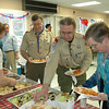 Volunteers, family members and supporters of Troop 70 lined up for dinner at the annual awards dinner March 20.  (Voket photo)