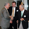 Newtown Rotary/Chamber of Commerce Business of the Year finalists join the 2010 winner in the small business category, Jim Gulalo of Preferred Insurance. Mr Gulalo (left) is congratulated by finalists Angelo Marini, proprietor of Sal e Pepe Restaurant, and local All State Insurance broker Mike Snyder during the annual event which was held March 22.  (Voket photo)