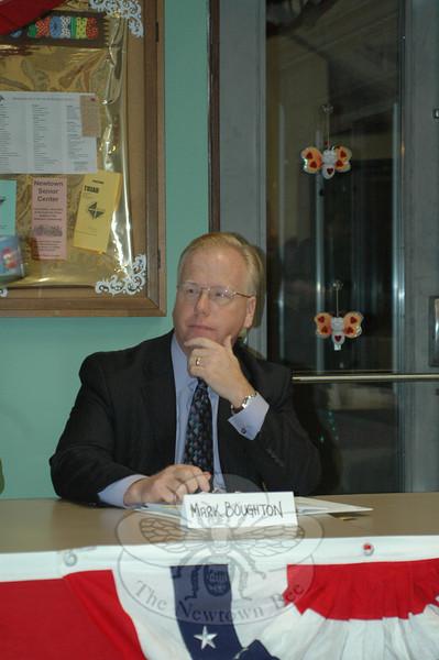 Danbury Mayor Mark Boughton during the GOP Gubernatorial Forum on March 24.  (Voket photo)