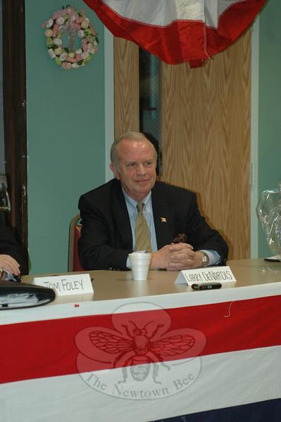 Former Congressman Larry DeNardis during the GOP Gubernatorial Forum on March 24.  (Voket photo)