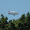 A MetLife blimp was seen traveling above Newtown last week.  (Gorosko photo)