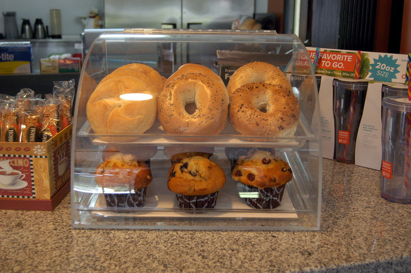 Freshly baked bagels from Bagelman, and tasty muffins are just part of the menu at Jester's Coffee Shop.   (Bonanno photos)
