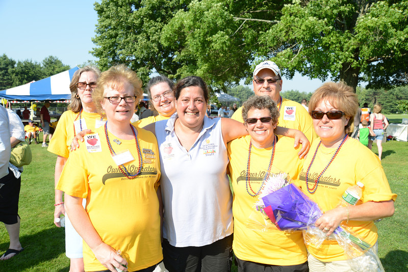 Standing with Assistant Director Recreation RoseAnn Reggiano, second from left, are owner-operators, from left, Phyllis Page, Beth Koschel, LeReine Frampton, Jim Tomassetti, Marsha Moskowitz, and Denise Buckley.  (Bobowick photo)