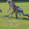September 25, 2009: The Newtown High School field hockey and football teams came out on top in their games against Joel Barlow last Friday night. The field hockey team won 2-1 at Barlow on a goal by Katie Canavan (in the blue jersey) with 10 seconds remaining. (Bee Photo, Hutchison)