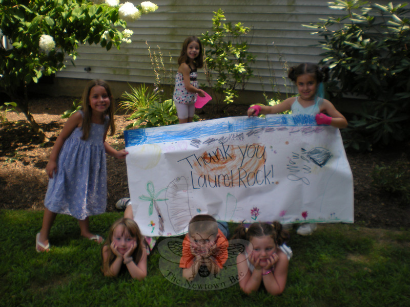 The Merryhill Children say thanks to Laurel Rock.