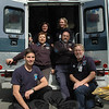 September 26, 2009: Newtown Volunteer Ambulance Corps was among the 60-plus groups who participated in the 16th Annual Great American Health & Public Safety Fair. Pictured, left to right, top row, Kristin Peterson, Sharon McCarthy; middle row, Mary Hanlon, David Maier; bottom row, Zachary Deutscher, Tom Hanlon. (Bee Photo, Gorosko)