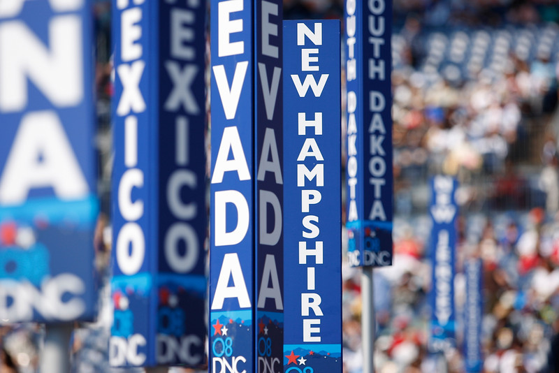 8/28/08 - Denver, CO - Invesco Field - Democratic National Convention - Senator Barack Obama will address an estimated crowd of 75,000 on the final night of the Democratic National Convention in Denver, CO on Thursday, August 28, 2008. Dina Rudick/Globe Staff.