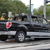 Truck Fire Plantation FD University