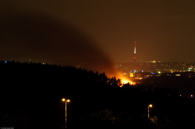 Požár Průmyslového paláce 16.10.2008