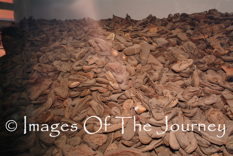 Harvest of soles.<br />  Shoes taken from those executed. They also took all gold teeth, luggage, hair and more.